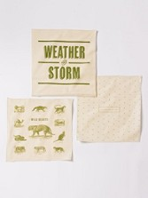 Forest Handkerchief, Set Of 3