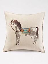 Pinto Horse Pillow