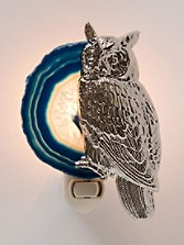 Owl And Agate Night Light