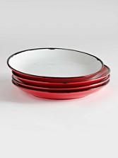 Tinware Dinner Plates, Set Of 4