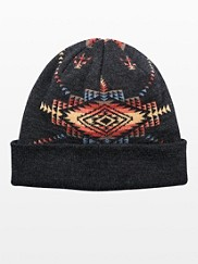 Jacquard Roll Up Beanie