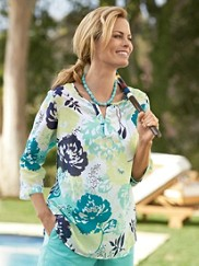 Cotton/silk Claudia Tunic