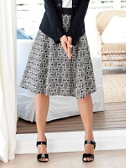 Ribbon Trim Skirt