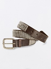 Leather Beaded Belt