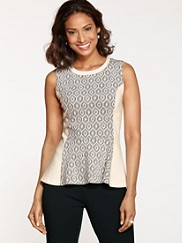 Sleeveless Harmony Peplum Knit Top
