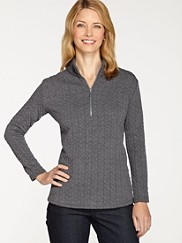 Half-zip Mock Neck