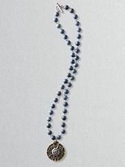 Honoure Sponge Stone Medallion Necklace