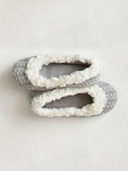 Callie Cable-knit Slippers