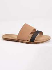Two-tone Leather Slides