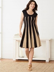 Linear Lines Twirl Dress