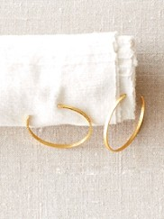 Cresent Hoop Earrings