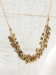 Bundled Up Pyrite Necklace