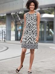 Arianna Scallop Print Dress