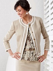 Textured Weave Amanda Jacket