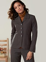 Worsted Wool Pinstripe Nicole Jacket