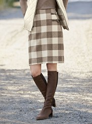Plaid Times Wrap Skirt