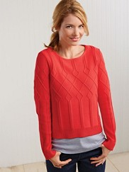 Placed Cable Pullover