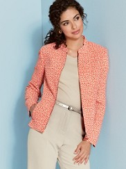 Travel Tricotine Geo Print Zip Jacket