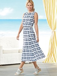 Boardwalk Batik Print Dress