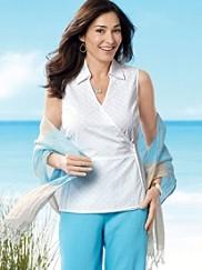 Sleeveless Wrap Shirt
