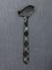 Plaid Wool Necktie