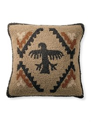 Rock Art Hooked Pillow