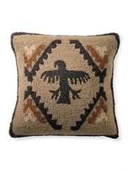 Rock Art Hooked Pillow