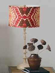Petite Paro Table Lamp And Ikat Shade