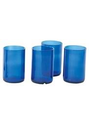 Wine Bottle Tumblers, Set Of 4