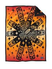 Raven Sunburst Crib Blanket