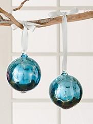 Mercury Glass Orb Ornaments