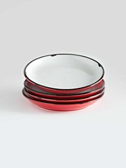 Tinware Appetizer Plates, Set Of 4