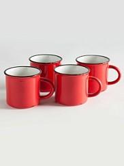 Tinware Camp Mugs, Set Of 4