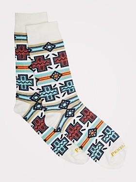 Pueblo Cross Crew Socks