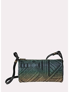 Tumbling Gems Jacquard Barrel Bag