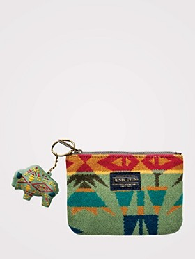 Echo Peaks Zip Pouch With Key Chain