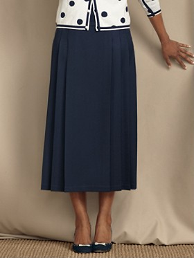 Seasonless Wool Panel-pleated Skirt