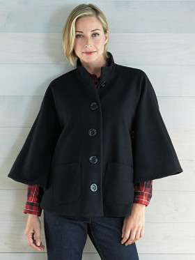 Plush Wool Cape