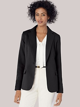 Seasonless Wool One-button Blazer