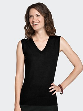 Superfine Merino V-neck Vest