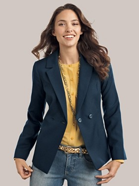 Seasonless Wool Double-breasted Blazer