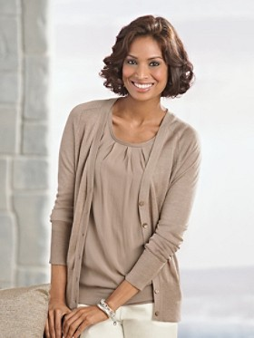 Sedona Silk Trim Cardigan