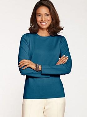 Washable Silk-blend Jewel-neck Pullover