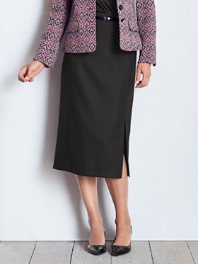 Worsted Wool Crepe Debonair Skirt