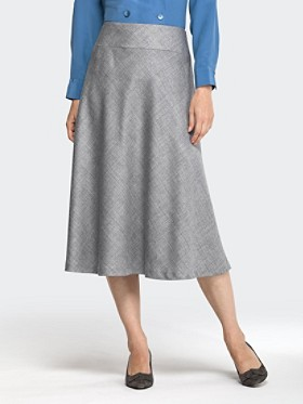 Wool Flannel Bias Skirt