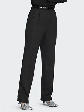 Pleat-front Flannel Trousers