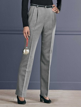 Worsted Flannel Modern Pleat Trousers