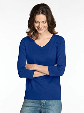 Three-quarter Sleeve V-neck Tee