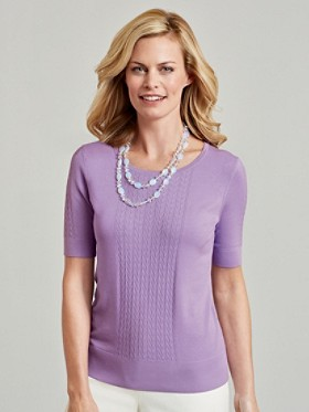 Silk-blend In Stitches Pullover
