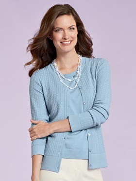 Silk-blend In Stitches Cardigan